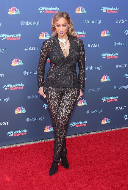 """Tyra Banks attends NBC's """"America's Got Talent"""" Season 12 Kickoff at the Pasadena Civic Auditorium on March 27, 2017 in Pasadena, California. (Photo by Jesse Grant/Getty Images)"""