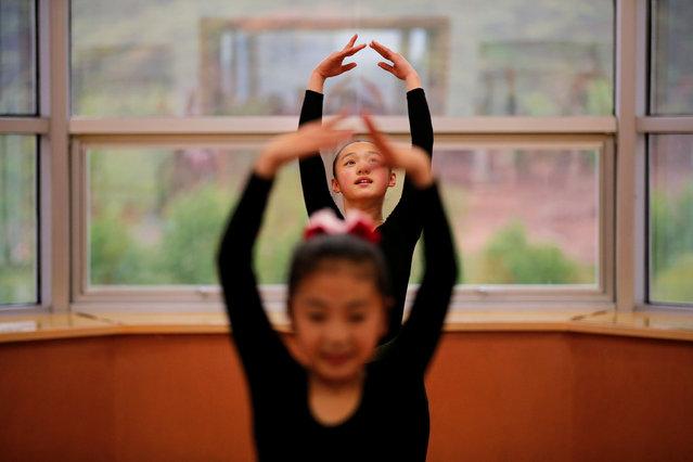 Students practice dance at the Mangyongdae Children's Palace in Pyongyang, North Korea May 5, 2016. (Photo by Damir Sagolj/Reuters)