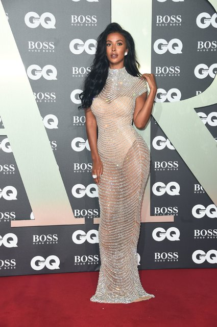 Maya Jama attends the GQ Men Of The Year Awards 2019 at Tate Modern on September 03, 2019 in London, England. (Photo by PA Wire Press Association)