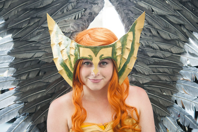 Jaclyn Rene Cass poses for a photo during day two of the 2015 San Diego Comic-Con International, Friday, July 10, 2015, in San Diego. (Photo by Kevin Sullivan/The Orange County Register via AP Photo)