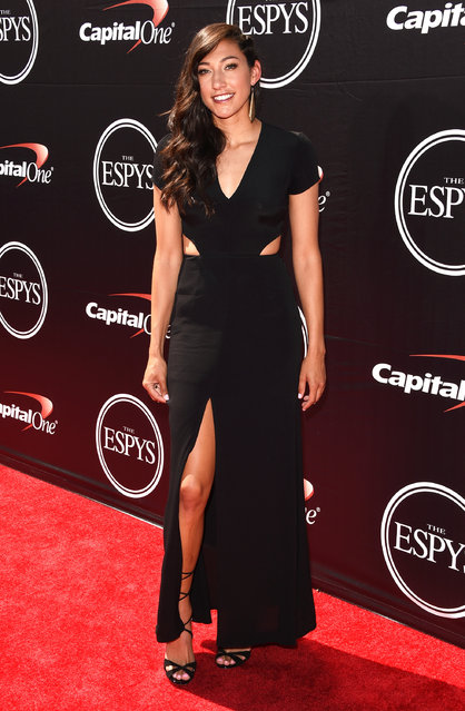 Olympic soccer player Christen Press arrives at The 2015 ESPYS at Microsoft Theater on July 15, 2015 in Los Angeles, California. (Photo by Jon Kopaloff/FilmMagic)
