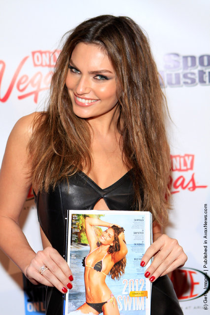 SI swimsuit model Alyssa Miller arrives at SI Swimsuit On Location hosted by Haze Nightclub at the Aria Resort & Casino at CityCenter