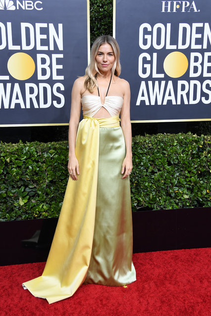 Sienna Miller attends the 77th Annual Golden Globe Awards at The Beverly Hilton Hotel on January 05, 2020 in Beverly Hills, California. (Photo by Jon Kopaloff/Getty Images)