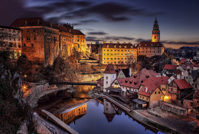 Photographer Petr Kubát captures Český Krumlov – the city in South Bohemia, one of a series of images taken as part of a project on sunrise and twilight in the area. (Photo byPetr Kubát/Rex Features/Shutterstock)
