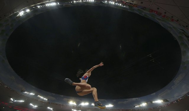 Katarina Johnson-Thompson of Britain competes in the women's long jump final during the 15th IAAF World Championships at the National Stadium in Beijing, China August 28, 2015. (Photo by Phil Noble/Reuters)