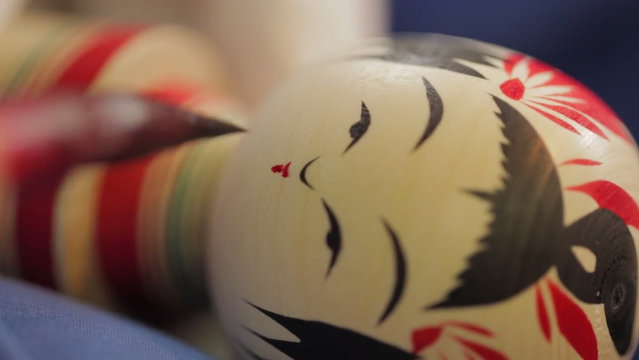 How It's Made Japanese Kokeshi Doll