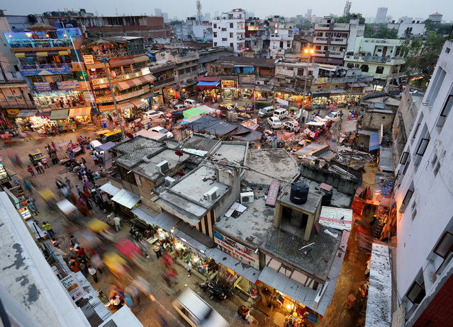 """Main Bazaar in New Delhi, India"". This is a long exposure, evening look at Main Bazaar in Paharganj. (Photo and caption by Edward Graham/National Geographic Traveler Photo Contest)"