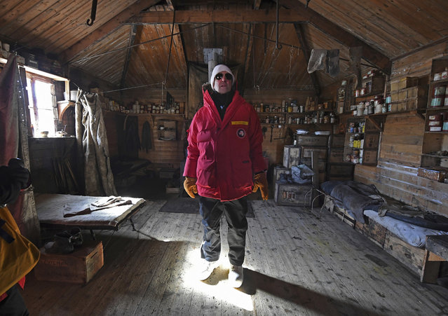 "U.S. Secretary of State John Kerry stands inside the historic Shackleton hut near McMurdo Station, Antarctica, Friday, November 11, 2016. Kerry became the highest-ranking American official to visit Antarctica when he landed for a two-day trip on Friday. He's been hearing from scientists about the impact of climate change on the frozen continent. Kerry's aides described the trip as a learning opportunity for the secretary of state. He has been receiving briefings from scientists working to understand the effects of climate change on Antarctica. Kerry has made climate change an intensive focus of American diplomacy during his term, and had previously spent decades working on the issue as a U.S. senator. Trump has called climate change a hoax and said he would ""cancel"" U.S. involvement in the landmark Paris Agreement on global warming. (Photo by Mark Ralston/Pool Photo via AP Photo)"