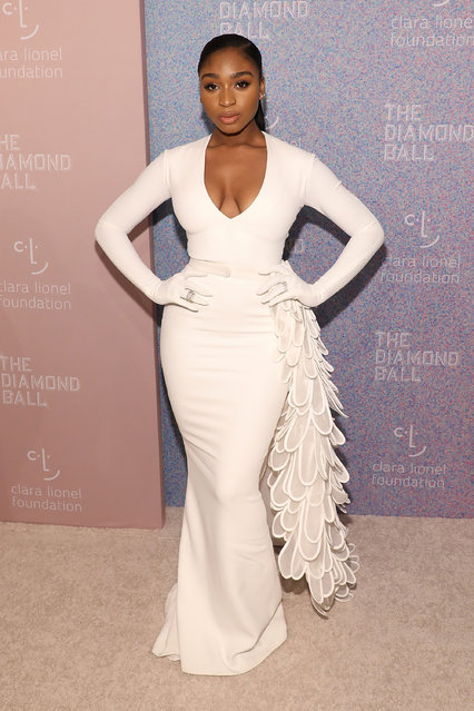 Normani Kordei attends the 2018 Diamond Ball at Cipriani Wall Street on September 13, 2018 in New York City. (Photo by Taylor Hill/WireImage)