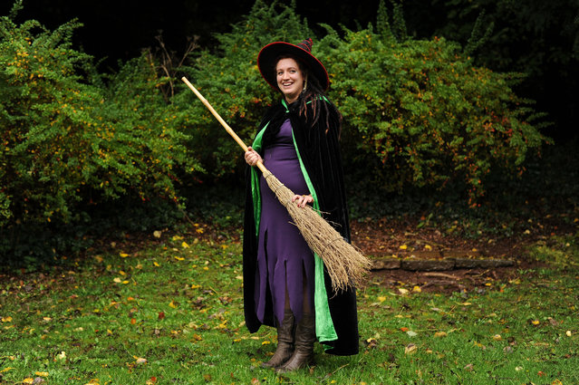 The new witch of Wookey Hole Caves Anna Dixon from Glastonbury following auditions held at the Somerset tourist attraction, on October 22, 2013. Around 50 applicants took part in the auditions today for a £50,000 a year (pro rata) job as the face of Wookey Hole. (Photo by Tim Ireland/PA Wire)
