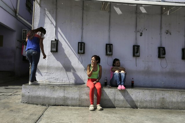 Female inmates are seen outside their cells in the Topo Chico prison during a media tour in Monterrey, Mexico, February 17, 2016. (Photo by Daniel Becerril/Reuters)