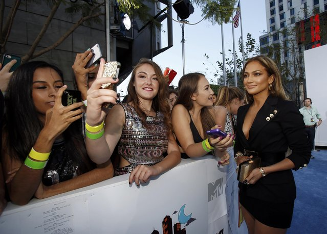 Actress Jennifer Lopez arrives at the 2015 MTV Movie Awards in Los Angeles, California April 12, 2015. (Photo by Mario Anzuoni/Reuters)