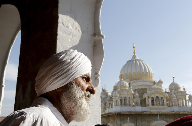 A Sikh devotees watches the Baisakhi festival at Panja Sahib shrine in Hassan Abdel April 13, 2015. (Photo by Caren Firouz/Reuters)