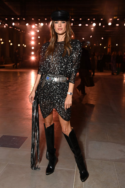 Alessandra Ambrosio attends the Isabel Marant Womenswear Spring/Summer 2022 show as part of Paris Fashion Week on September 30, 2021 in Paris, France. (Photo by Pascal Le Segretain/Getty Images)