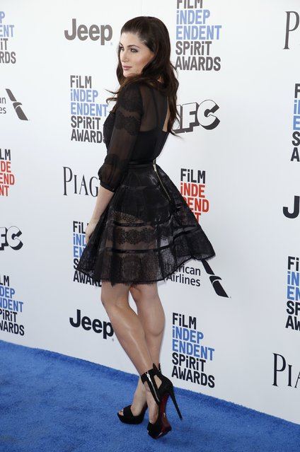 Actress Trace Lysette arrives at the 2017 Film Independent Spirit Awards in Santa Monica, California, U.S., February 25, 2017. (Photo by Danny Moloshok/Reuters)