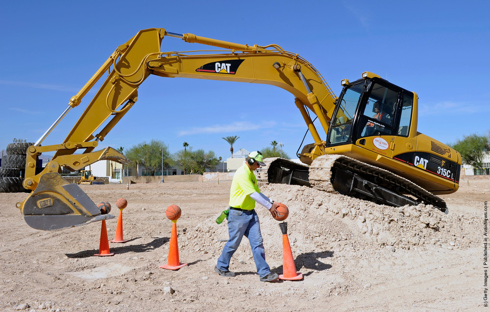Heavy Equipment Playground Gives Adults A Chance To Play In Sand With Excavators And Bulldozers