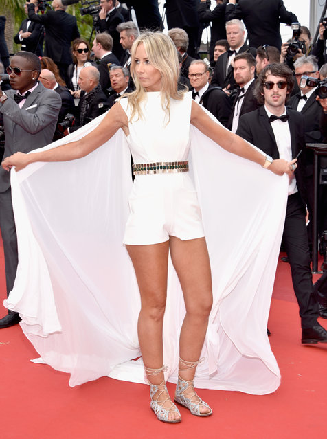 """Lady Victoria Hervey attends the """"Money Monster"""" premiere during the 69th annual Cannes Film Festival at the Palais des Festivals on May 12, 2016 in Cannes, France. (Photo by Clemens Bilan/Getty Images)"""