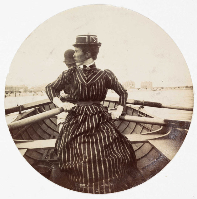Woman in a rowing boat, about 1890. (Photo by Collection of National Media Museum/Kodak Museum)