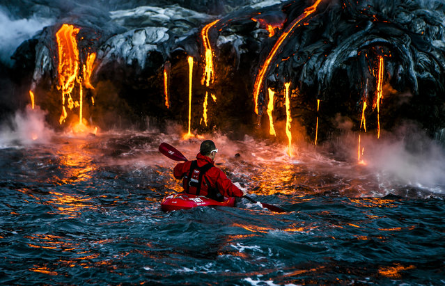 """Kilauea Rules"". The most extreme place we put ours kayakers to paddle till now. Photo location: Big Island, Hawaii. (Photo and caption by Alexandre Socci/National Geographic Photo Contest)"