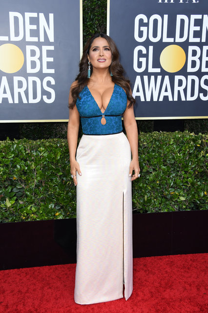 Salma Hayek attends the 77th Annual Golden Globe Awards at The Beverly Hilton Hotel on January 05, 2020 in Beverly Hills, California. (Photo by Jon Kopaloff/Getty Images)