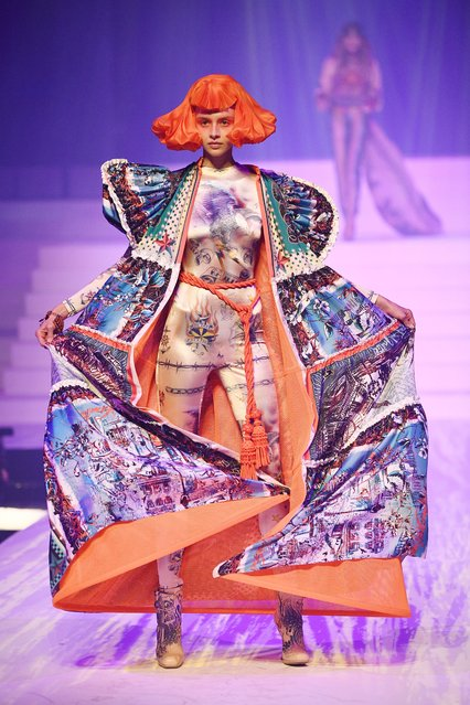 A model presents a creation by Jean Paul Gaultier during the Women's Spring-Summer 2020 Haute Couture collection fashion show in Paris, on January 22, 2020. (Photo by Anne-Christine Poujoulat/AFP Photo)