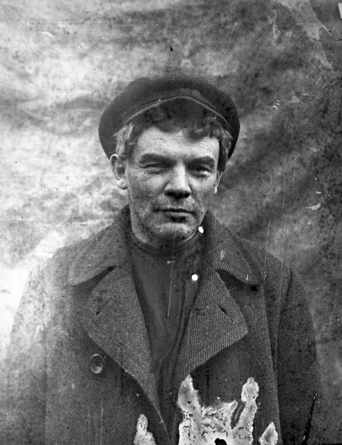 In this photo taken in August 1917, provided by Russian State Archive of Social and Political History, Vladimir Lenin, disguised by being clean-shaven, as he hid out in a village near Razliv railway station, 35 kilometers north-west of St. Petersburg, Russia. The 1917 Bolshevik Revolution was long before the digital revolution allowed anyone to instantly document events. But the clumsy cameras of the time still caught some images that capture the period's drama. (Photo by Russian State Documentary Film and Photo Archive via AP Photo)