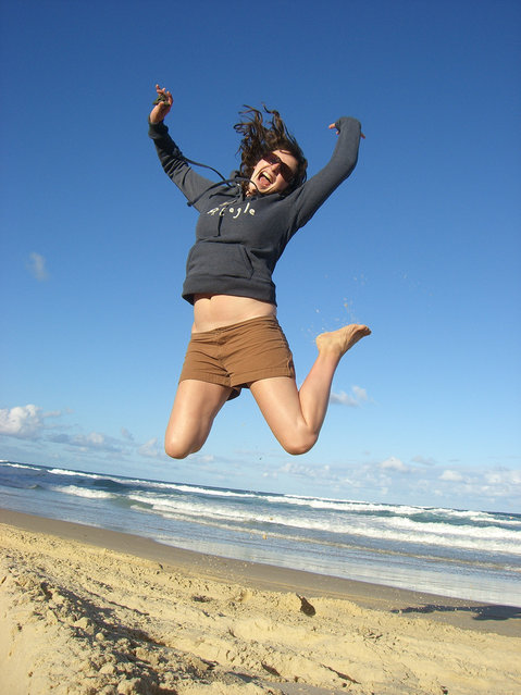 """Jumpology"". ""Frazer Island Jump"". (Photo by mossybreen)"