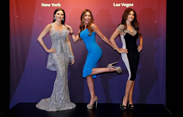 Sofia Vergara unveils two Madame Tussauds wax figures in her likeness for display at Madame Tussauds locations in New York and Las Vegas, in New York City, on June 4, 2013.  (Photo by Cindy Ord/Getty Images for Madame Tussauds)