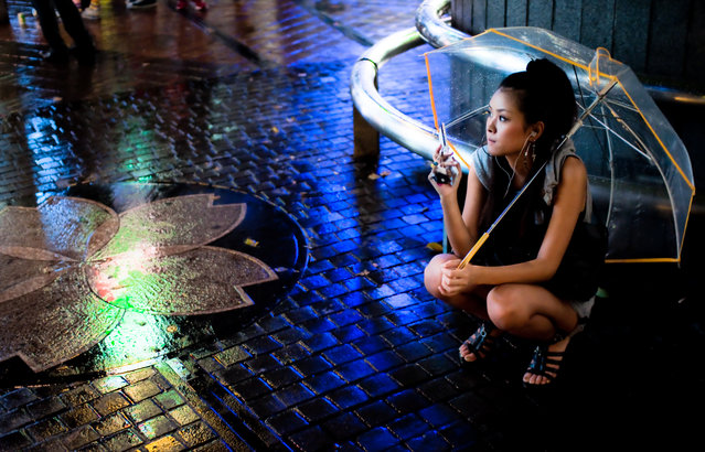 """Rainy and hot"". (Photo by Héctor García)"