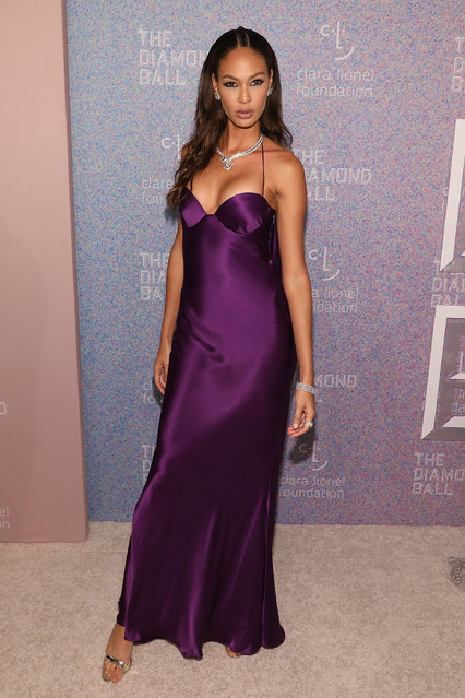 Joan Smalls attends the 2018 Diamond Ball at Cipriani Wall Street on September 13, 2018 in New York City. (Photo by Taylor Hill/WireImage)