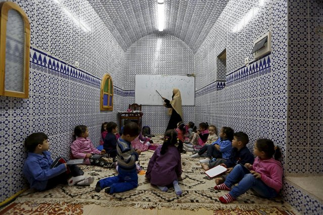 Children attend a class in the old city of Algiers Al Casbah, Algeria December 6, 2015. (Photo by Zohra Bensemra/Reuters)