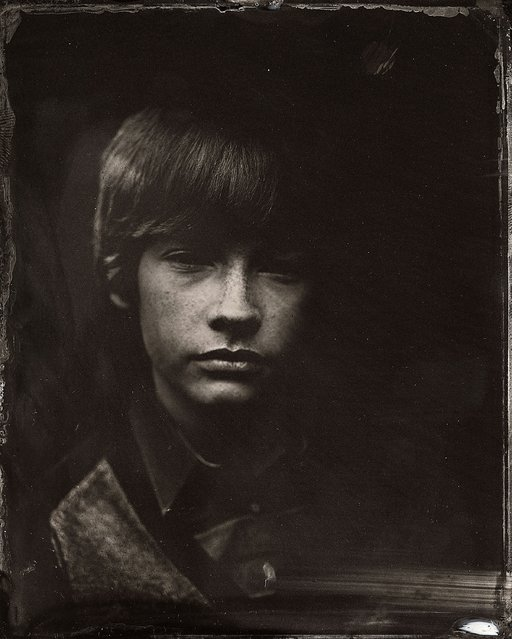 Jacob Lofland poses for a tintype (wet collodion) portrait at The Collective and Gibson Lounge Powered by CEG, during the 2014 Sundance Film Festival in Park City, Utah. (Photo by Victoria Will/AP Photo/Invision)