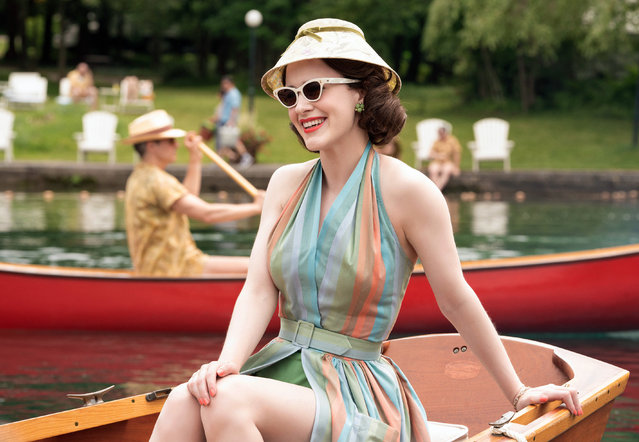 "This image released by Amazon shows Rachel Brosnahan in a scene from ""The Marvelous Mrs. Maisel"". The Paley Center for Media said Thursday, March 7, 2019, it is launching on-demand streaming of its programs, including conversations with the casts and makers of new and old series. Featured series include ""The Marvelous Mrs. Maisel"", ""Grace and Frankie"" and ""RuPaul's Drag Race"", among others. (Photo by Nicole Rivelli/Amazon via AP Photo)"