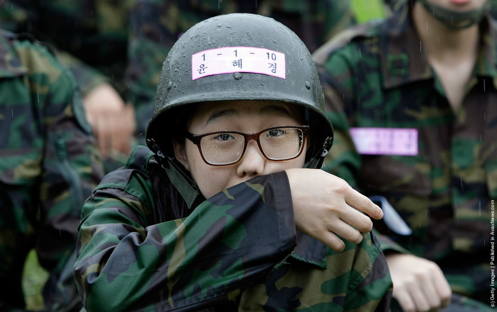 Teenagers Participate Military Special Survival Training Course