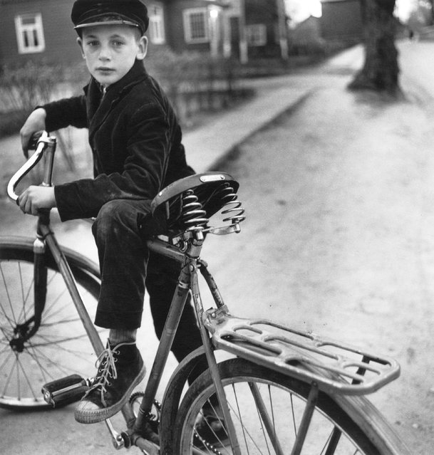 """The Lithuanian critic and art historian Margarita Matulite has described Sutkus's work as """"an epic poem, assembled from fragments of everyday life"""". The photographer was awarded the Lithuanian National Award for Culture and Art in 2003. Here: Father's bicycle, 1969. (Photo by Antanas Sutkus)"""