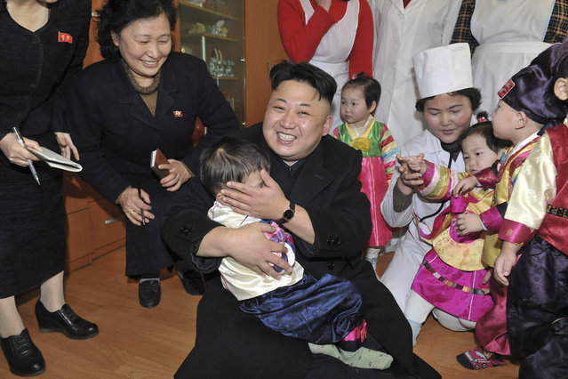 North Korean leader Kim Jong Un visits an orphanage in this undated photo released by North Korea's Korean Central News Agency (KCNA) in Pyongyang in February 4, 2014. (Photo by Reuters/KCNA)
