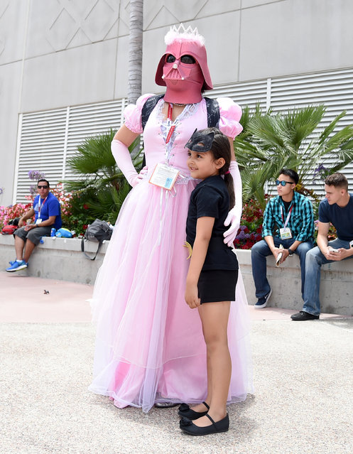 Fans dressed in cosplay attend Comic-Con International 2015 on July 10, 2015 in San Diego, California. (Photo by Jason Merritt/Getty Images)
