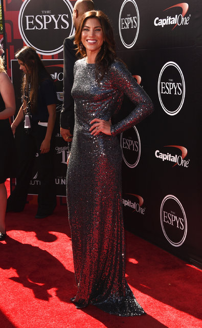 U.S. Women's Soccer player Hope Solo attends The 2015 ESPYS at Microsoft Theater on July 15, 2015 in Los Angeles, California. (Photo by Jason Merritt/Getty Images)