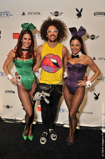 RedFoo of LMFAO attends the 2012 Playboy Party hosted by Bud Light Hotel at Bud Light Hotel