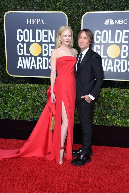 (L-R) Nicole Kidman and Keith Urban attend the 77th Annual Golden Globe Awards at The Beverly Hilton Hotel on January 05, 2020 in Beverly Hills, California. (Photo by Jon Kopaloff/Getty Images)