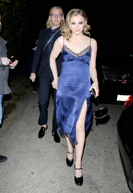 Chloë Grace Moretz and brother attend the WME Pre-Oscars Party at a private residence in Hollywood on February 8, 2020. (Photo by Backgrid USA)