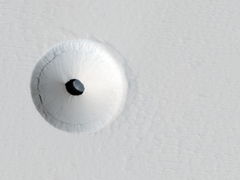 A Hole in Mars