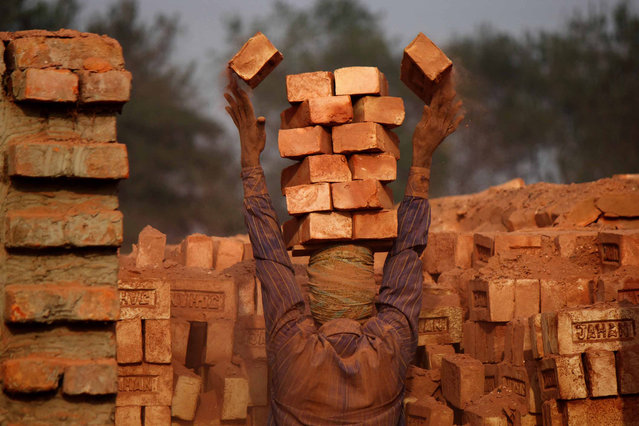 CGAP Photo Contest – South Asia Regional Winner: Bricks Worker, Bangladesh. A private enterprise worker is working at a brick field. These small businesses are creating new job opportunities for many poor people. (Photo by Moksumul Haque)