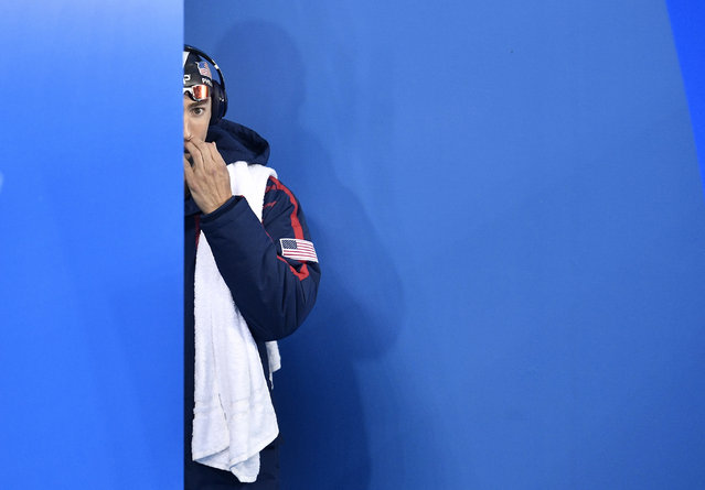 United States' Michael Phelps arrives for a men's 200-meter butterfly semifinal during the swimming competitions at the 2016 Summer Olympics, Monday, August 8, 2016, in Rio de Janeiro, Brazil. (Photo by Martin Meissner/AP Photo)