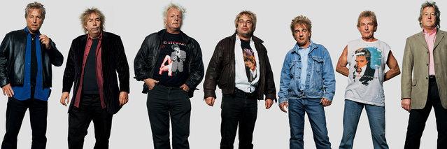 Rod Stewart fans. (Photo by James Mollison)