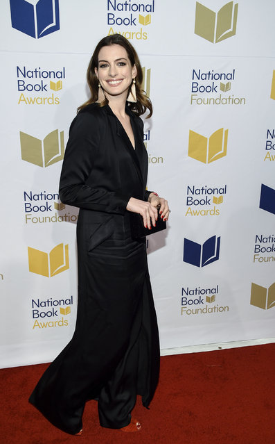 Actress Anne Hathaway attends the 68th National Book Awards Ceremony and Benefit Dinner at Cipriani Wall Street on Wednesday, November 15, 2017, in New York. (Photo by Evan Agostini/Invision/AP Photo)