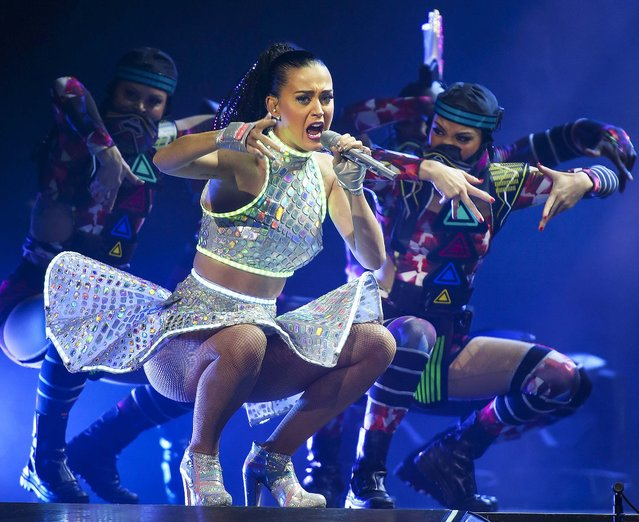 Katy Perry performs live at Perth Arena during her Prismatic World Tour on November 7, 2014 in Perth, Australia. (Photo by Paul Kane/Getty Images)