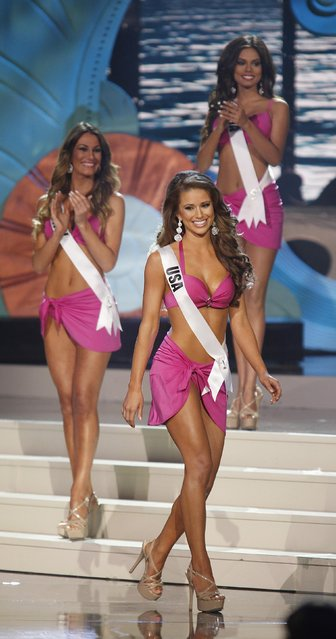 Miss USA Nia Sanchez is seen as she is announced as a top 10 finalist at the 63rd Annual Miss Universe Pageant in Miami, Florida, January 25, 2015. (Photo by Andrew Innerarity/Reuters)