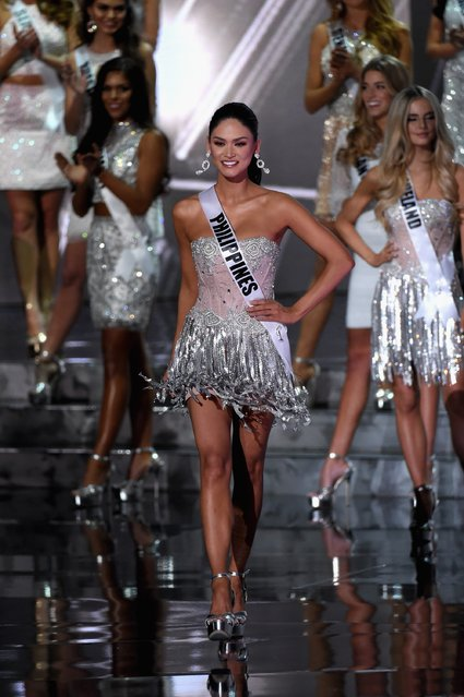 Top 15 contestant Miss Philippines 2015, Pia Alonzo Wurtzbach, walks onstage during the 2015 Miss Universe Pageant at The Axis at Planet Hollywood Resort & Casino on December 20, 2015 in Las Vegas, Nevada. (Photo by Ethan Miller/Getty Images)