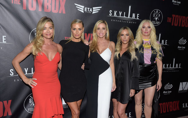 """(L - R) Denise Richards, Dorit Kemsley, Camille Grammer, Teddi Mellencamp Arroyave and Erika Jayne attend the premiere of Skyline Entertainment's """"The Toybox"""" at Laemmle's NoHo 7 on September 14, 2018 in North Hollywood, California. (Photo by Michael Tullberg/Getty Images)"""